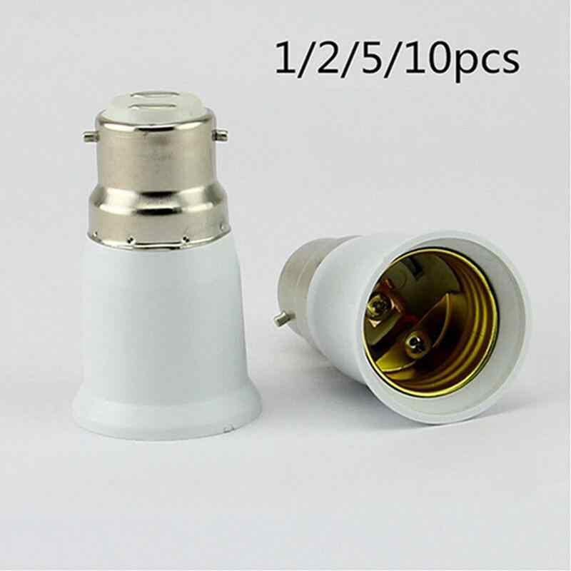 B22 к E27 светильник Лампа патрон база конвертер Эдисона винт в штык крышка огнестойкий держатель адаптер конвертер разъем