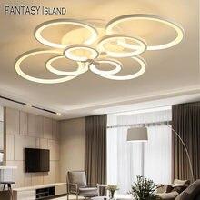 Круги Смарт потолочный светильник для Гостиная кабинет Спальня