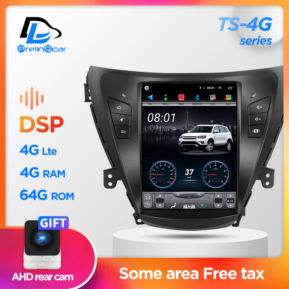 64G ROM Vertical Screen Android Car Gps Multimedia Video Radio Player In Dash For Hyundai Elantra 2011-2013 Years Car Navigaton