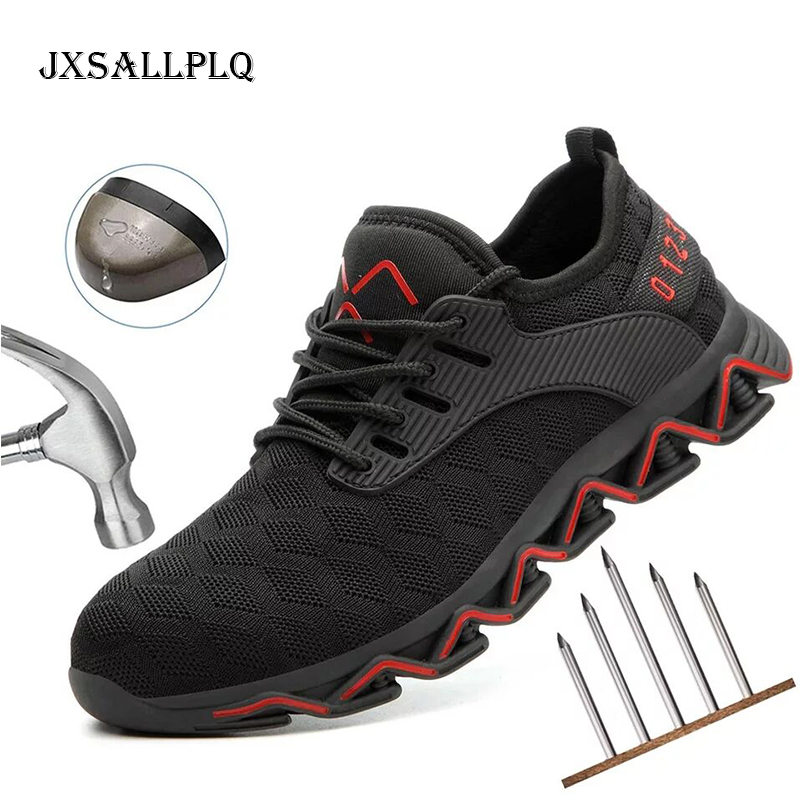 Indestructible Safety Shoes Autumn Men's Breathable Anti-smite Work Shoes Site Special Safety Women's Shoes Sports Shoes XL47