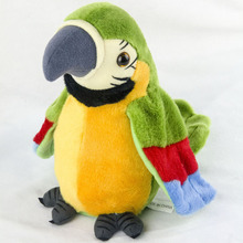 26cm Speak Talking Record Cute Parrot Repeats Waving Wings Electric Plush Simulation Parrot Toy Macaw Toy Kid Gift