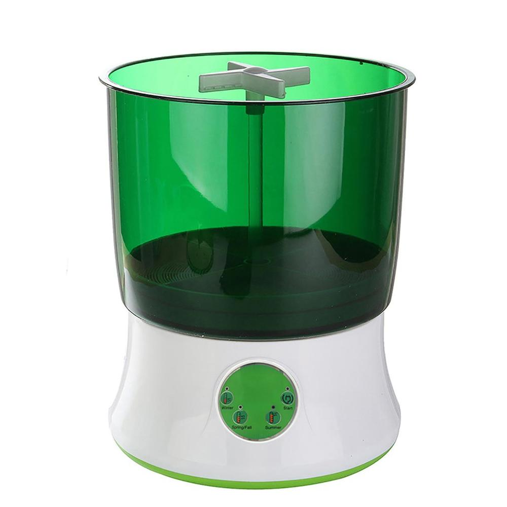 Digital Home DIY Bean Sprouts Maker 2 Layer Automatic Electric Germinator Seed Vegetable Seedling Growth Bucket Biolomix