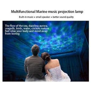 Image 5 - Ola de mar proyector LED con luz nocturna, reproductor de música, 7 luces, estrella de universo Chico, dormitorio, proyector colorido para dormir
