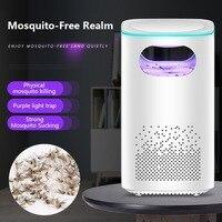 Usb alimentado mosquito assassino lâmpada não-tóxico eletrônico bug zapper 360 graus led armadilha lâmpada para interior com adaptador usb livre