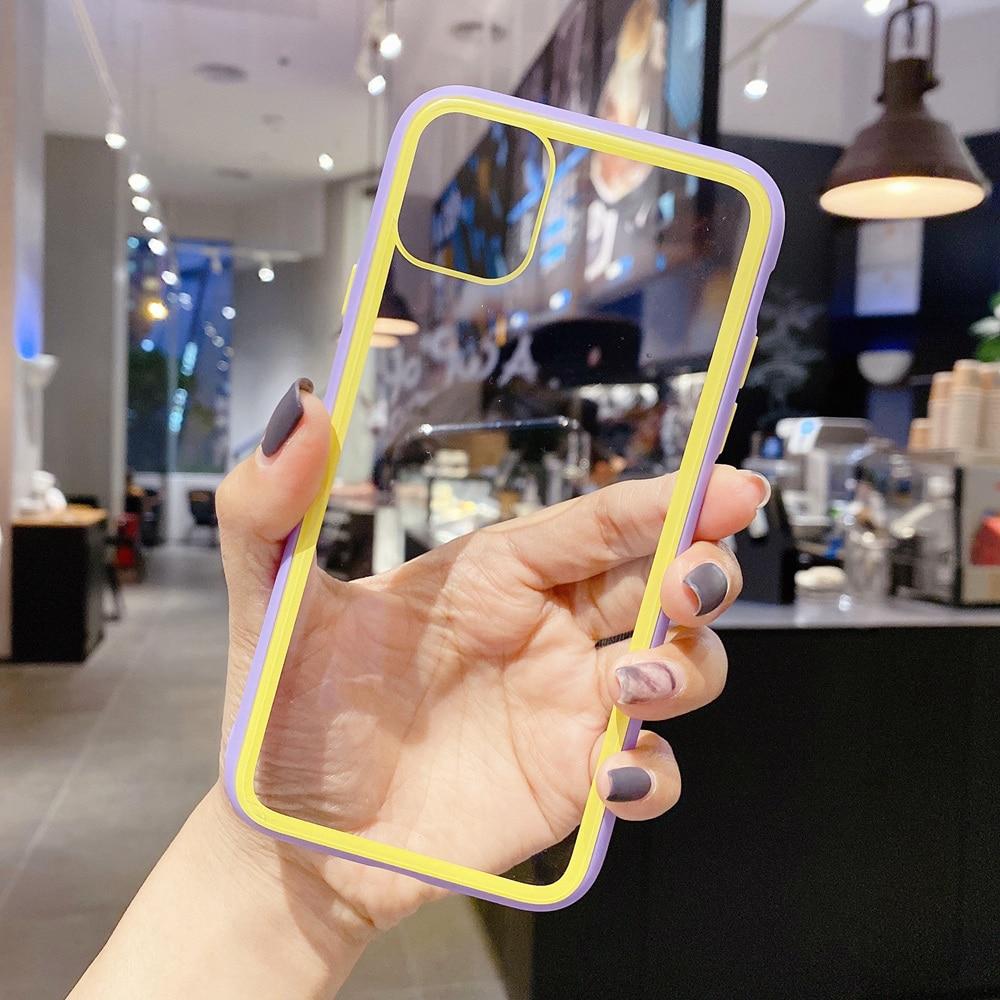 Shockproof Tangguh Transparan Bumper Kasus untuk iPhone SE 2020 Se2 - Aksesori dan suku cadang ponsel - Foto 2