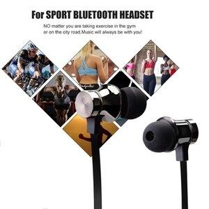 Image 5 - スポーツランニングbluetoothイヤホンワイヤレスヘッドセットヘッドフォンマイク低音ステレオ磁気blutoothのイヤホン携帯電話