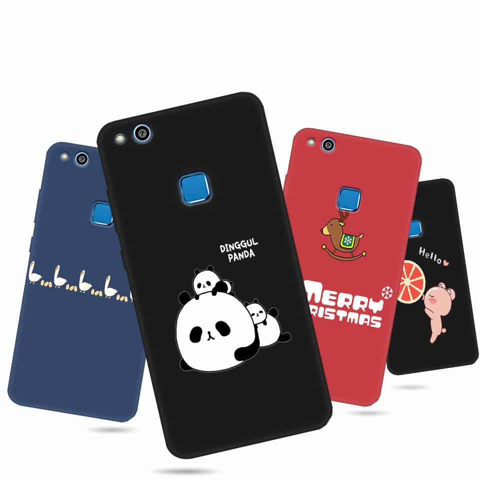 Color Matte Phone Case For Huawei P10 P20 P8 Lite Y6 Y5 Y7Prime Y9 P smart 2017 2018 2019 Soft Silicon TPU Full Protective Cover