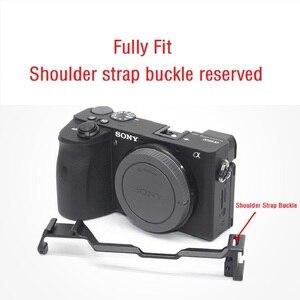 Image 3 - Kamera Käfig für Sony a6600 Pro Kamera Käfig L Quick Release Platte Doppel Kopf Kalten Schuh Stabilisator Rig Käfig Für sony EINE 6600