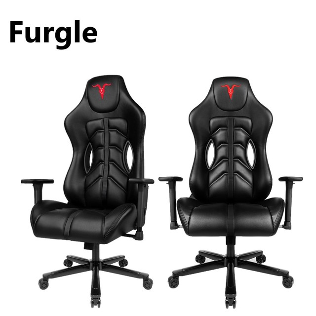 Furgle Office Chair Memory Foam Gaming Chair Adjustable Tilt Angle and 4D Armrest Ergonomic High-Back Leather Computer Chairs