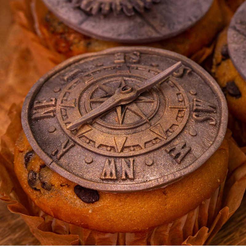 アンティークコンパス金型シリコーン型フォンダンケーキデコレーションツール gumpaste sugarcraft チョコレートフォーム耐熱皿ツール