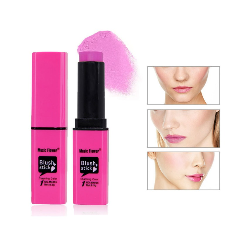 6 Colors Pink Blush Cream Blush Stick Brightening Complexion Not Blooming Facial Beauty Makeup Cosmetic Product