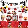 Cartoon Mickey Mouse Thema Bestek Kids Party Decoratie Kinderen Birthday Party Baby Bad Cup Plaat Feestartikelen Diner Sets