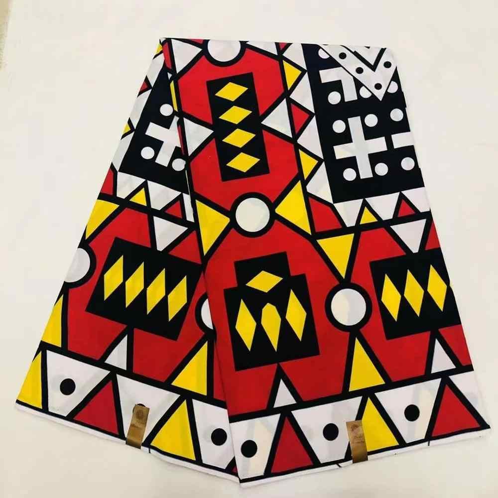 أنقرة الأفريقي الشمع النسيج 6 ياردة القطن النيجيري غانا نمط الشمع طباعة قماش خياطة فستان أفريقي 081802