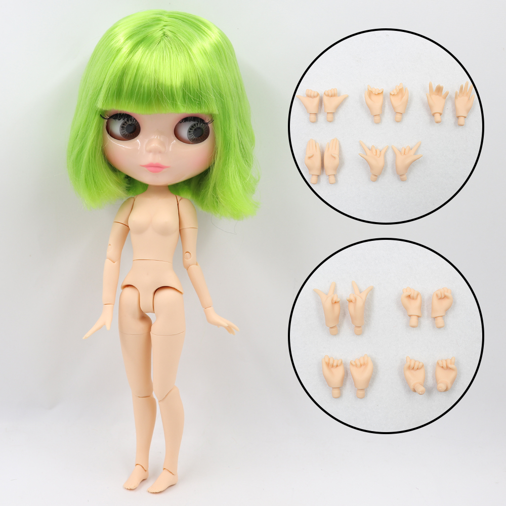 ICY DBS Blyth doll 1/6 bjd toy natural skin shiny face short hair joint body 30cm girls gift special offer 12