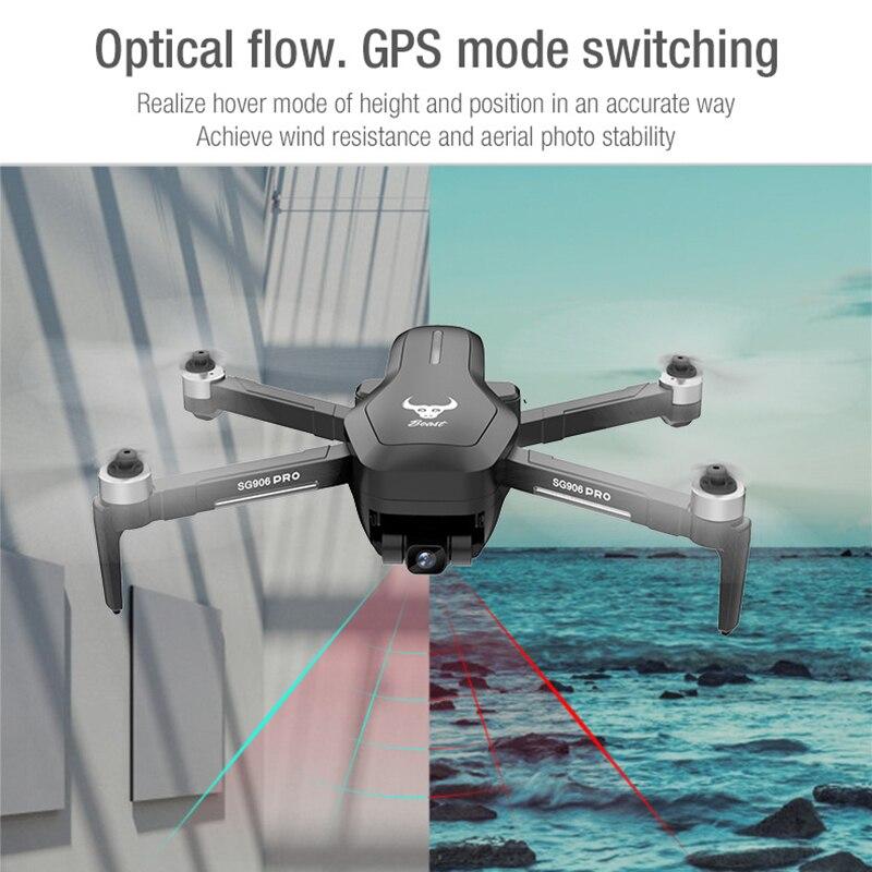 Беспилотный летательный аппарат SG906 PRO 2 GPS с 3 оси самостабилизирующийся Gimbal Wi-Fi FPV 4K Камера Дрон с бесщеточным двигателем Дрон Квадрокоптер ZLRC зверь sg906pro