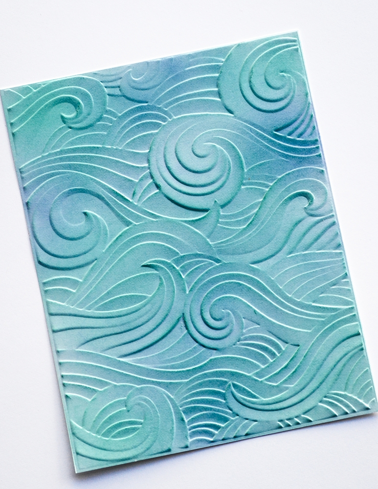 2021 New 3D Embossed Folder For DIY Making Waves Background Greeting Card Album Scrapbooking No Clear Stamps Metal Cutting Dies