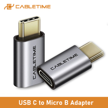 Converter Usb-C Female Micro-B C365 CABLETIME Adapter Laptop OTG Type-C for Huawei/Mate/30/Quick-charge