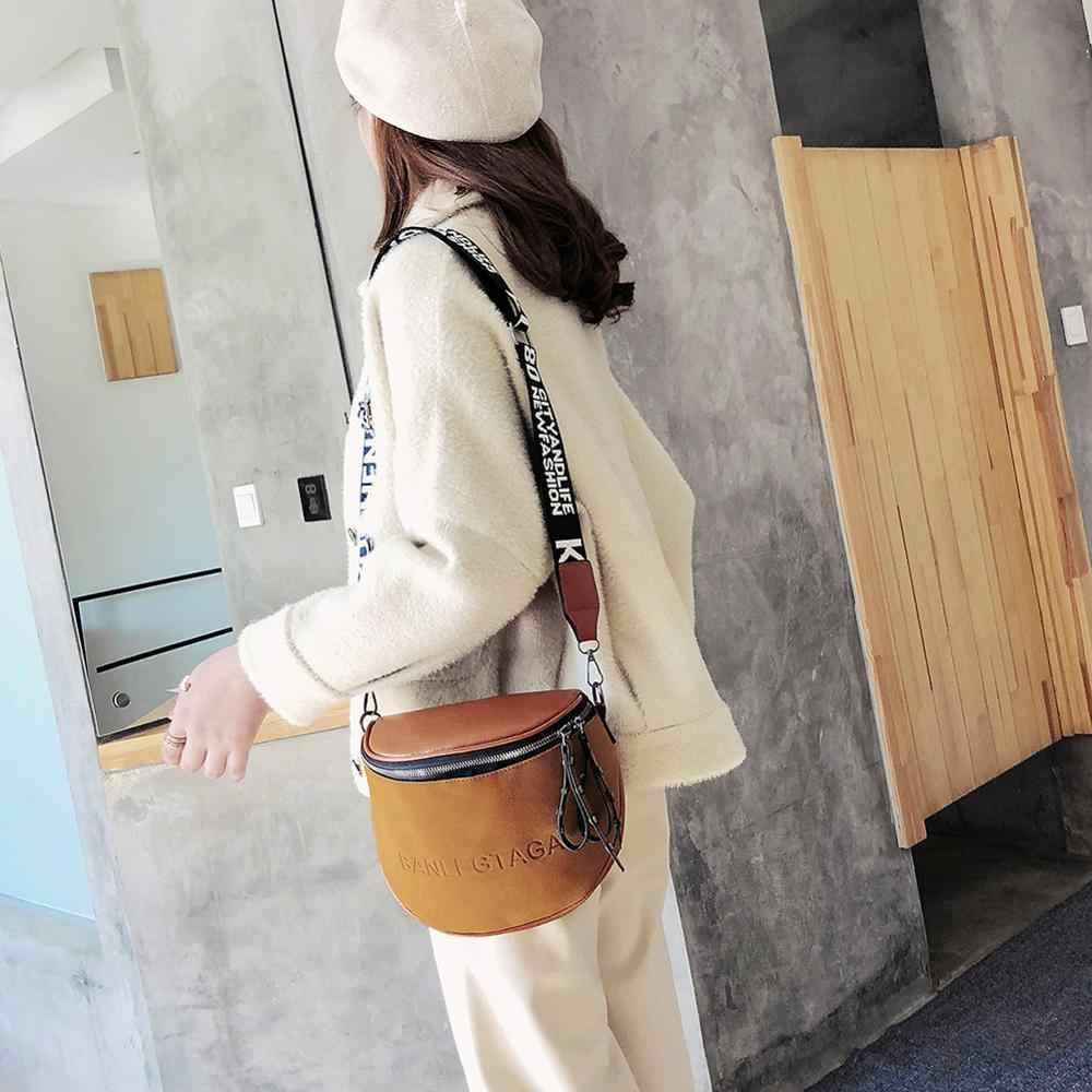 Fashion Wanita Kecil Tas Kurir Wanita Pundak Tas Ember Tas Selempang Tas Wanita Tas Tangan Lingkaran Saddle Bag