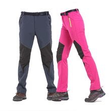 Women's Hiking Pants Fashion Softshell Pants Winter Outdoor Warm Windproof Breathable Fleece Pants Camping Climbing Trousers facecozy men winter thicken skiing hiking pants windproof with warm fleece male trousers outdoor sports climbing softshell pants