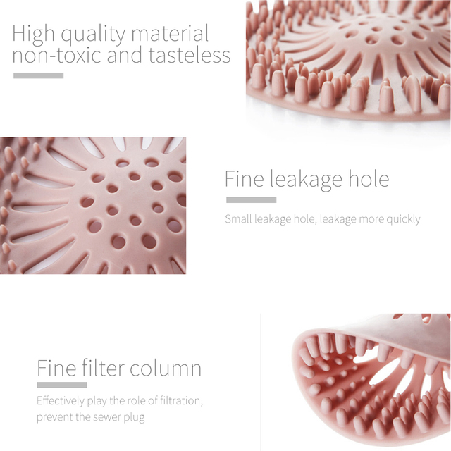 High Quality Sink Sewer Filter Floor Drain Strainer Water Hair Stopper Bath Catcher Shower Cover Kitchen Bathroom Anti Clogging 4
