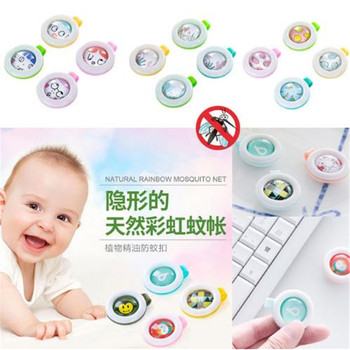 Summer Mosquito Repellent Buttons Bracelet Stickers Child Baby Anti Mosquito Pest Control Buttons Mosquito Killer image