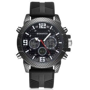 Image 2 - BOAMIGO 고급 브랜드 시계 남자 스포츠 시계 LED 디지털 아날로그 석영 남자 군사 손목 시계 시계 남자 Relogio Masculino