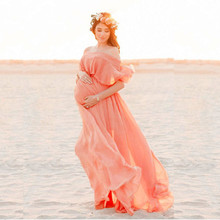 цена Maternity Dresses For Photo Shoot Chiffon Pregnancy Dress Casual Photography Props Maxi Gown Dresses For Pregnant Women Clothes онлайн в 2017 году