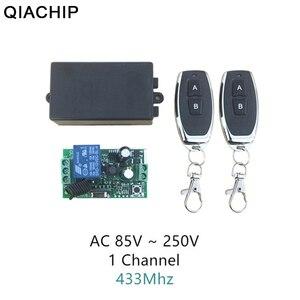 QIACHIP AC 220V 1CH 10A RF беспроводной пульт дистанционного управления беспроводной световой светильник светодиодный выключатель и 2 передатчика 433,...