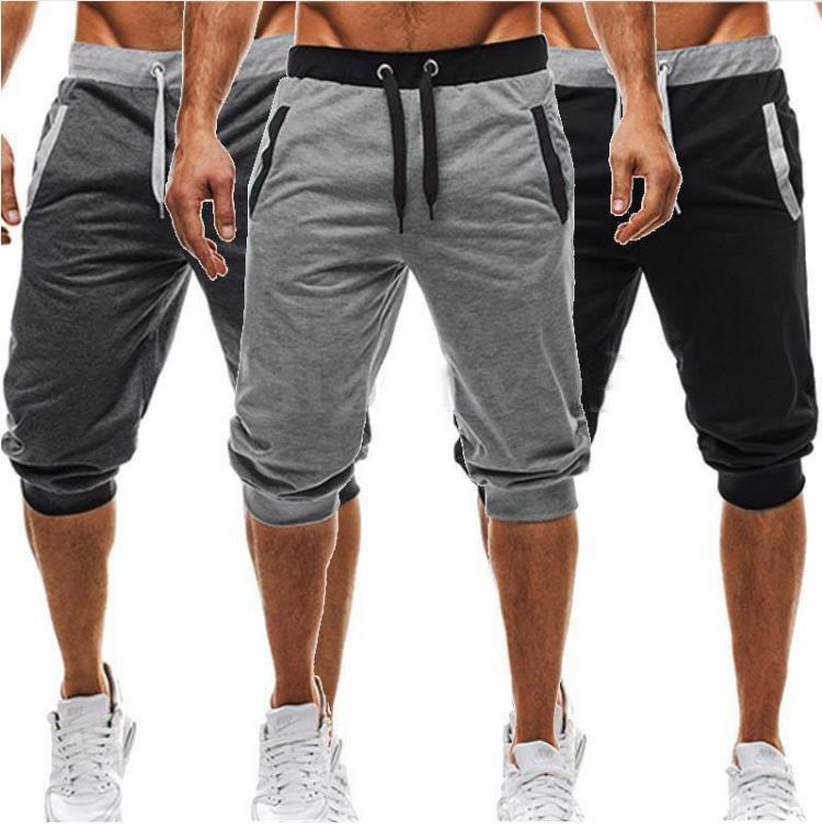 Hot Sale Men's Slim Five Pants Elastic Drawstring Casual Outdoor Sports Breathable Pirate Shorts Size M-3XL