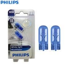 Philips WhiteVision W5W T10 12961WHVB2 12V 5W 4000K белый автомобильный интерьерный светильник оригинальные сигнальные лампы лампа для чтения 12961BV, 2шт