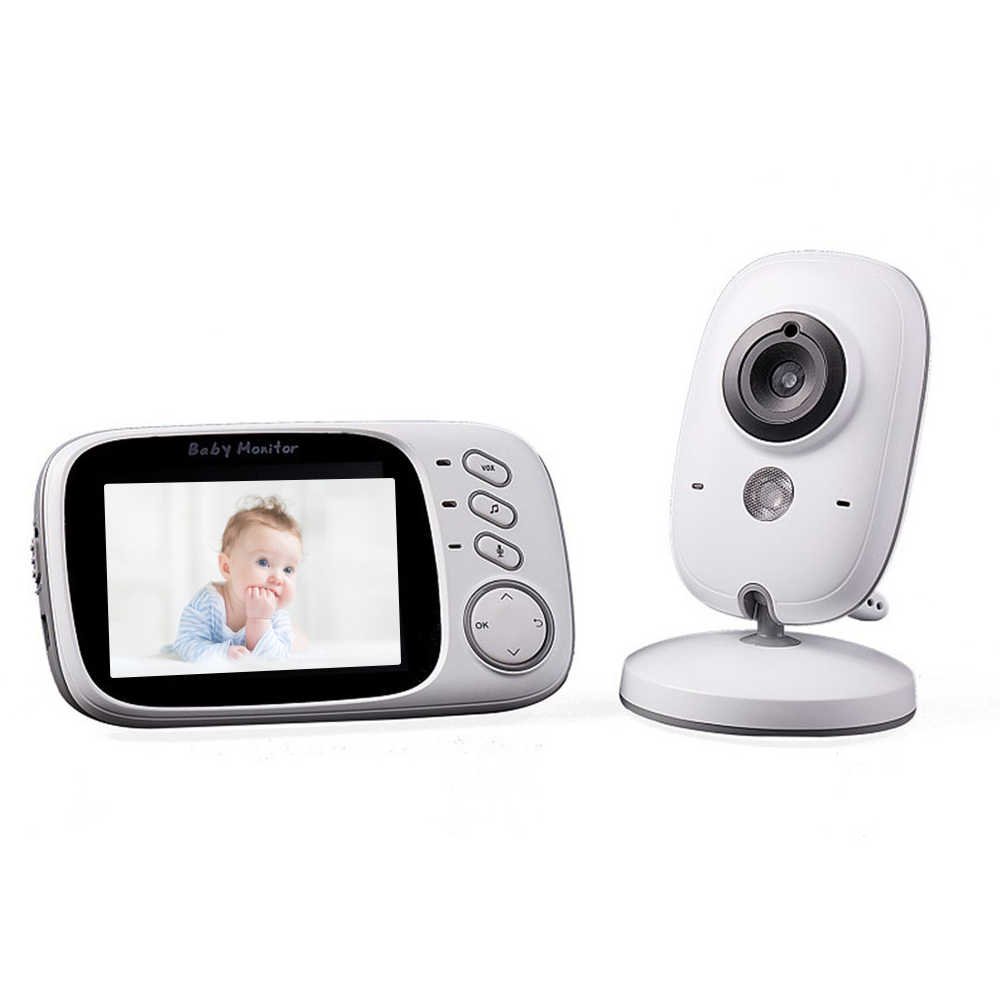 فيديو لاسلكي متعدد اللغات مع شاشة لمراقبة الأطفال عالية الدقة كاميرا مراقبة درجة حرارة الطفل والرؤية الليلية
