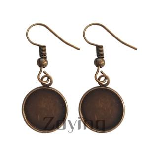 Image 4 - Zdying Islamic Muslim Sign Dangle Earrings Glass Cabochon Charm Earring Pendant Alloy Metal Arabic Religion Jewelry AL007