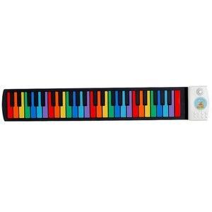 Новая 49 клавиш свернутая пианино цифровая пианино Гибкая силиконовая складная электронная клавиатура для детей студенческий музыкальный ...