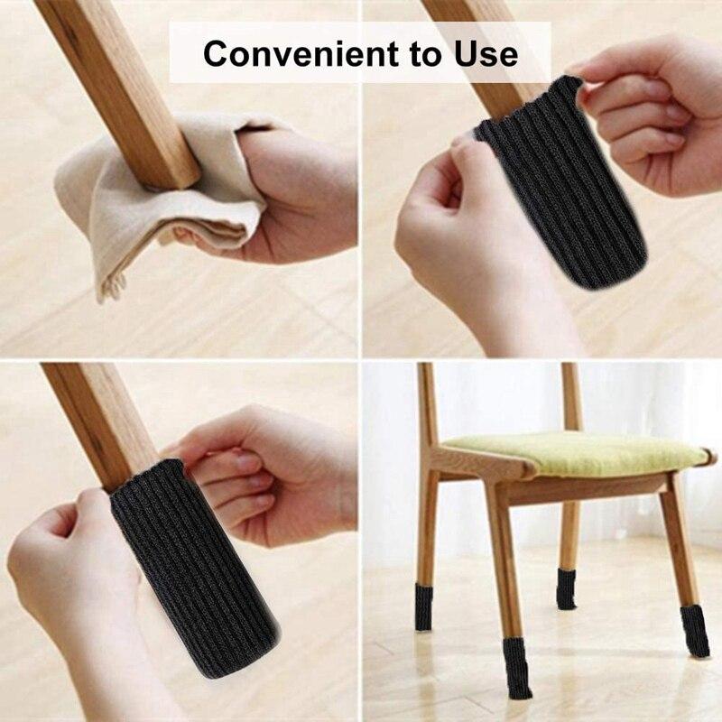 24 упаковки носочки для ног стула трикотажные носки мебели защитные