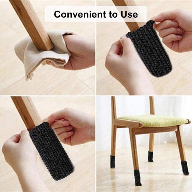 Фото 24 упаковки носочки для ног стула трикотажные носки мебели защитные цена