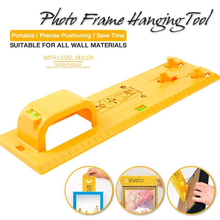 Photo Frame Hanging Tool Portable Picture Level Ruler Frame Hanger Hooks Wall Instrument Photo Hang Level Tools