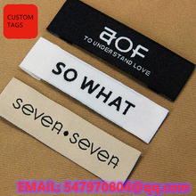 Customized Fabric sewing Clothing Labels For Garment Brand Logo Woven Label With Personalized Name Clothes Tags