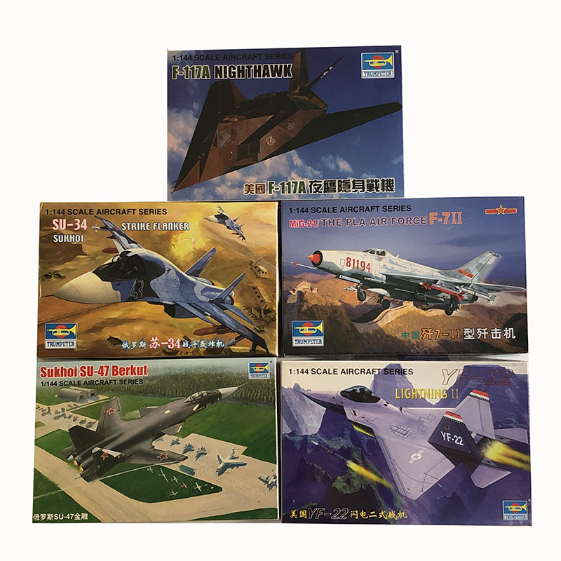9PCS 1/ 144 Scale Plastic Model Kit Assembly Aircraft Building Set China Russia USA Fighter Military Mini Sand Table Toy