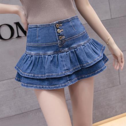 High Waist Denim Mini Skirt Summer Womens Short Skirts Sexy Saia Jeans Women Ruffles Button Jupe Femme Plus Size Ladies Skirt Lj Skirts Aliexpress