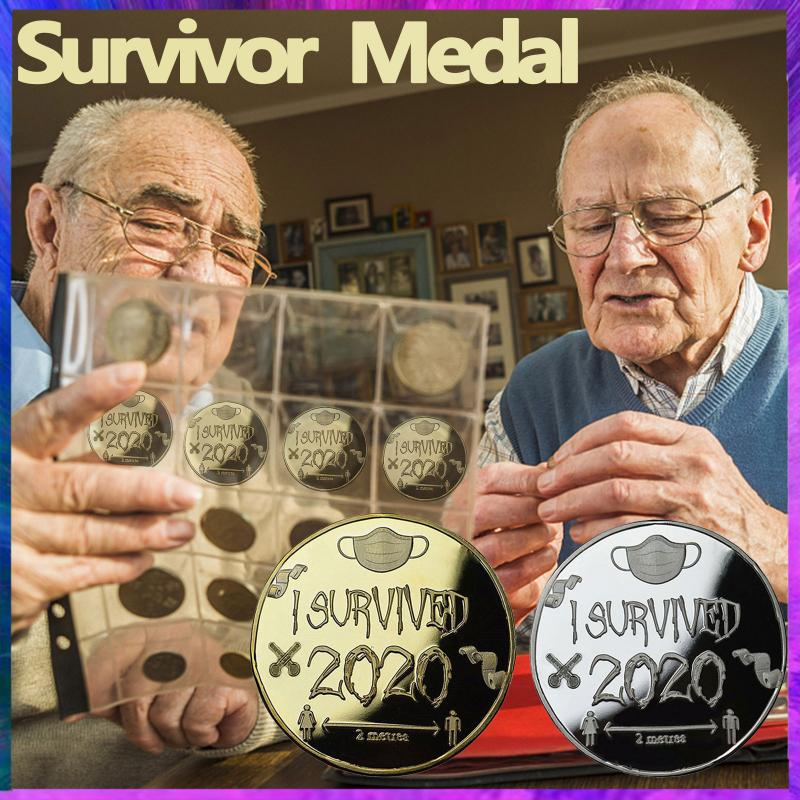2020 Disaster Survivor Memorable Medal Collection Gold Silver Medal Coin Collection 2021 New Years Gifts Coins Grilfriend Gift