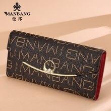Manbang женские кошельки модный длинный женский кошелек на молнии