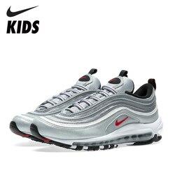 NIKE AIR MAX 97 OG argent Bulle enfants chaussures de course coussin d'air respirant hommes chaussures de course antidérapant femme baskets 884421-001