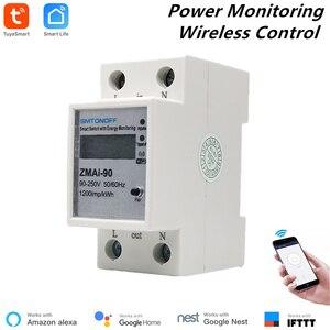 Image 1 - مقياس طاقة ذكي متوافق مع Tuya من Alexa مزود بواي فاي ومفتاح لقياس استهلاك الطاقة ومقياس لقياس الطاقة 110 فولت/220 فولت يعمل بالريموت كنترول