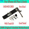 16 Гб 64 Гб 128 ГБ для iphone 6S Plus материнская плата  оригинальная разблокированная для iphone 6S Plus логическая плата с сенсорным ID/без сенсорного ID