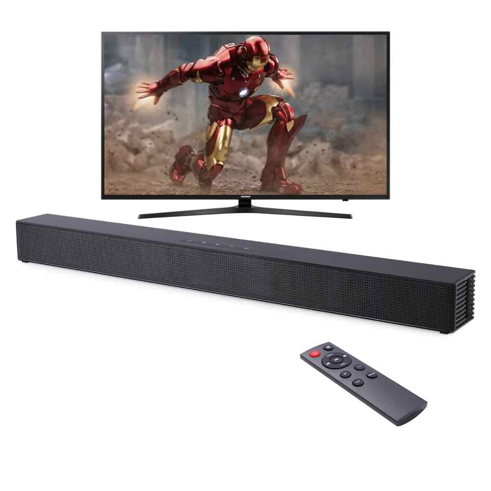 A parete TV Soundbar Home Theater 40W Dell'altoparlante di Bluetooth di Sostegno Ottico HDMI Coassiale AUX Sound Bar Con Subwoofer per la TV PC