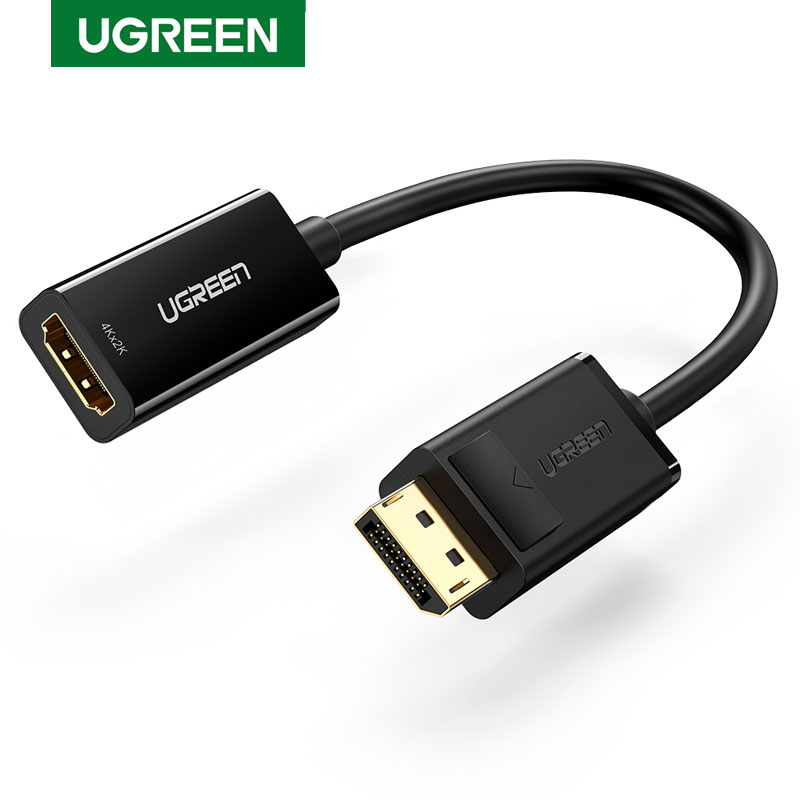 Ugreen <font><b>Displayport</b></font> DP <font><b>to</b></font> <font><b>HDMI</b></font> <font><b>Adapter</b></font> 4K Display Port Cable Converter 1080P For PC Laptop Projector <font><b>Displayport</b></font> <font><b>to</b></font> <font><b>HDMI</b></font> <font><b>Adapter</b></font> image