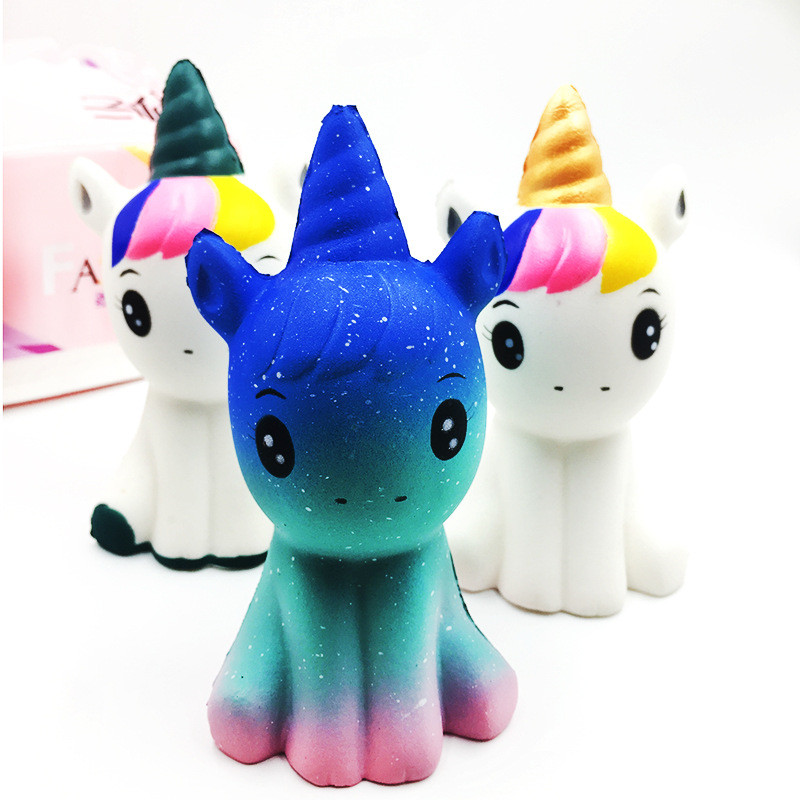 10pcs NEW 12CM Jumbo Unicorn Squishy Slow Rising Flying Horse Squeeze Toy Best Christmas Birthday Gift Toys For Children's Adult