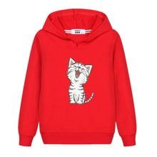 Hoodie Sweatshirt Pullovers Long-Sleeved Girls Design Kids Kitten Aimi Casual Cotton