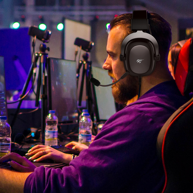 Havit wired headset gamer pc 3.5mm ps4 fones de ouvido surround sound & hd microfone jogos overear tablet portátil gamer 6
