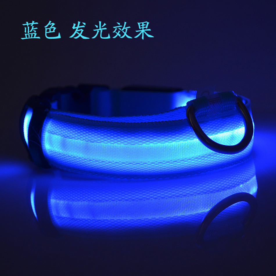 LED Pet Charging Dog Night Dog Useful Product Night Light Dog Collar USB Neck Ring Shining Flash Charging Anti-Lost